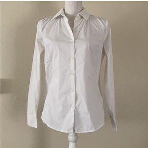 express essential button down shirt women's